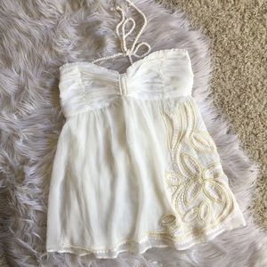 White Beaded top